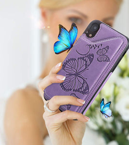 New Luxury Embossing Wallet Cover For iPhone XR-Fast Delivery