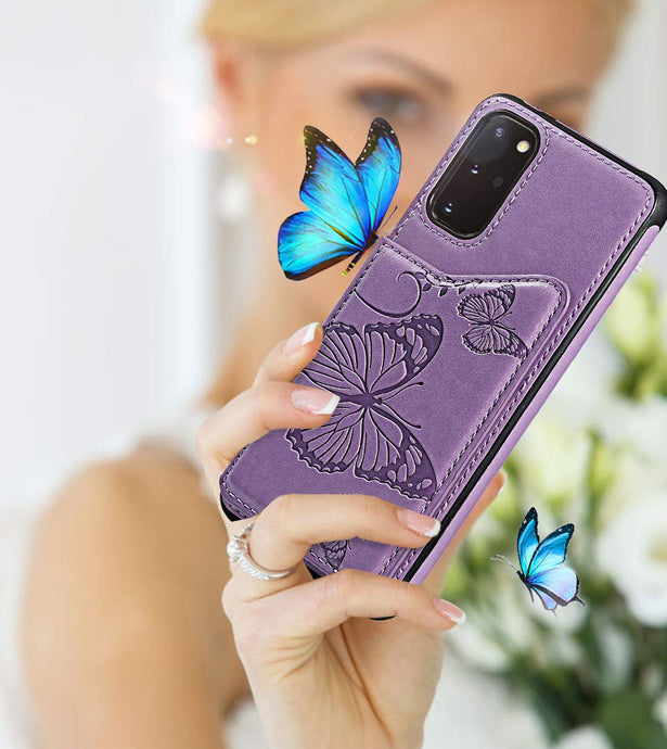 New Luxury Embossing Wallet Cover For SAMSUNG S20 Plus-Fast Delivery