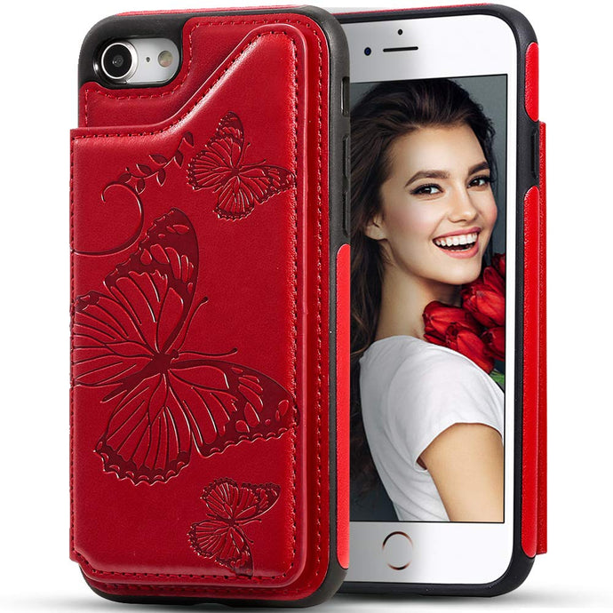 New Luxury Embossing Wallet Cover For iPhone 6/6S-Fast Delivery