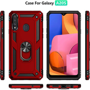 Luxury Armor Ring Bracket Phone Case For Samsung A20S-Fast Delivery