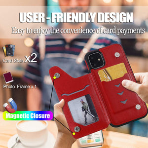 New Luxury Embossing Wallet Cover For iPhone 11-Fast Delivery