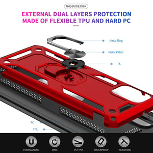 Luxury Armor Ring Bracket Phone Case For Samsung A31-Fast Delivery