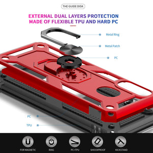 Luxury Armor Ring Bracket Phone Case For Samsung A20&A30-Fast Delivery