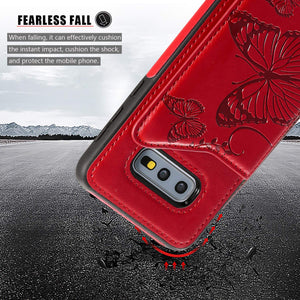 New Luxury Embossing Wallet Cover For SAMSUNG S10e-Fast Delivery