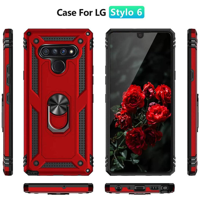 2021 New Luxury Armor Ring Bracket Phone case For LG Stylo6-Fast Delivery