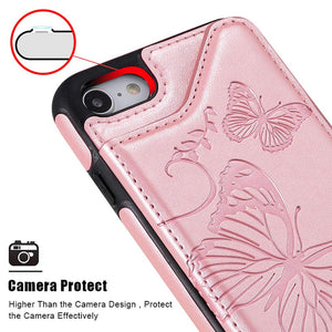 New Luxury Embossing Wallet Cover For iPhone 6 Plus/6s Plus-Fast Delivery