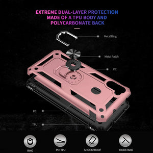 Luxury Armor Ring Bracket Phone Case For Samsung A11-Fast Delivery