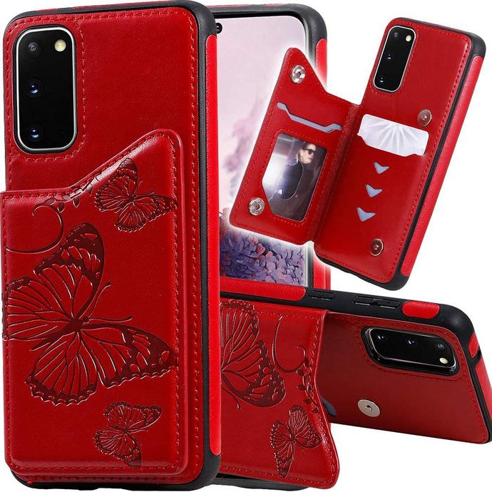 New Luxury Embossing Wallet Cover For SAMSUNG S20 FE-Fast Delivery