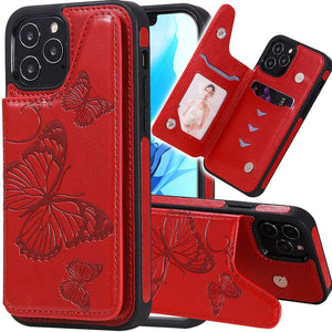 2021  New Luxury Embossing Wallet Cover For iPhone