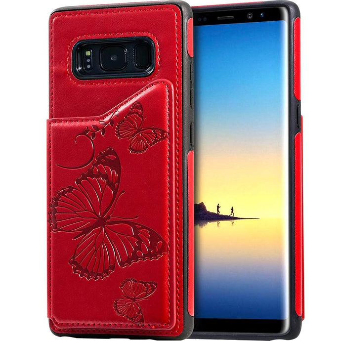 New Luxury Embossing Wallet Cover For SAMSUNG  S8-Fast Delivery
