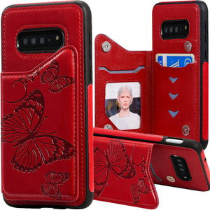 New Luxury Embossing Wallet Cover For SAMSUNG S10-Fast Delivery
