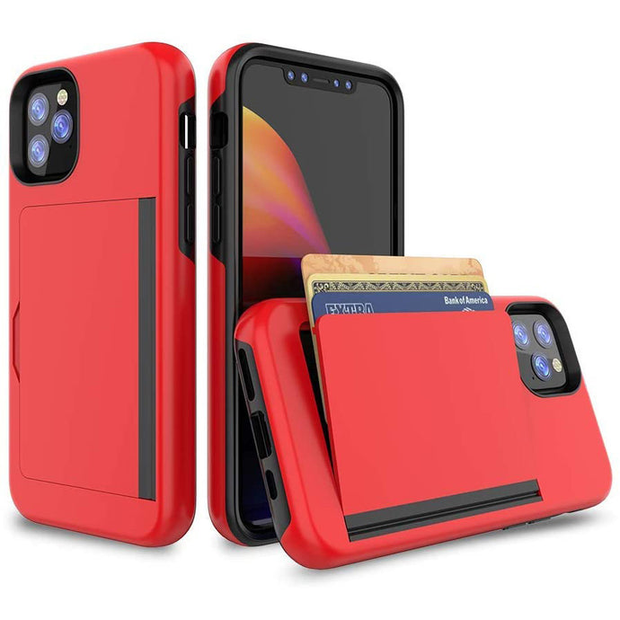 Armor Protective Card Holder Case for iPhone