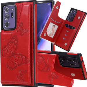 New Luxury Embossing Wallet Cover For SAMSUNG Note 20 Ultra-Fast Delivery
