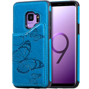 New Luxury Embossing Wallet Cover For SAMSUNG S9-Fast Delivery
