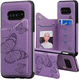 New Luxury Embossing Wallet Cover For SAMSUNG S10 Plus-Fast Delivery