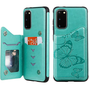 New Luxury Embossing Wallet Cover For SAMSUNG S20 FE(5G)-Fast Delivery