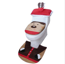 Load image into Gallery viewer, 3PCS Christmas Toilet Seat+Water Tank Cover (Paper Towel Cover)+Foot Pad
