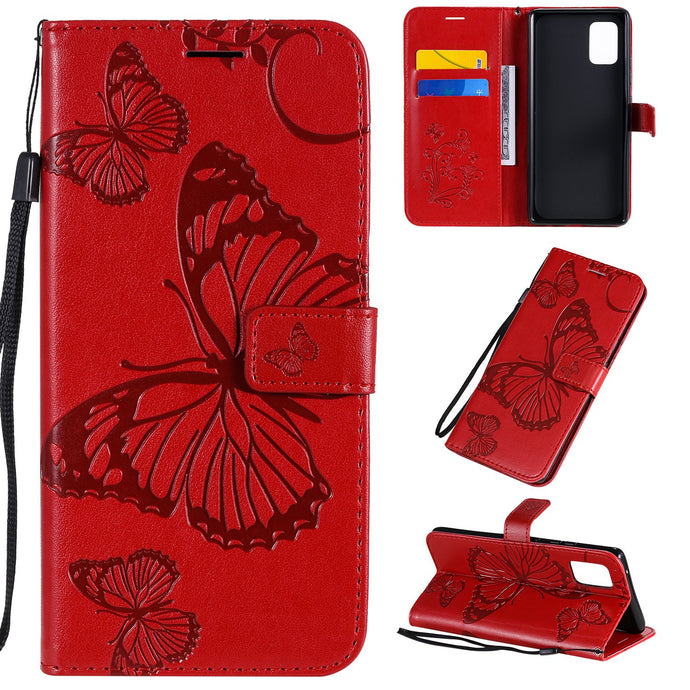 3D Embossed Butterfly Wallet Phone Case For Samsung