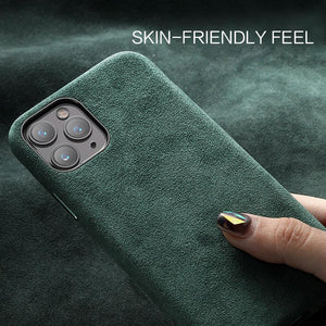 Luxury Suede Leather Phone Back Cover