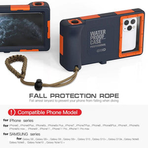 Underwater Professional Diving Case with Lanyard [15m/50ft]