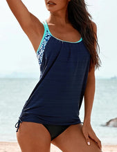 Load image into Gallery viewer, Side Ruched Splicing Two-Piece Tankini Set