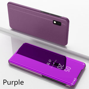 Luxury Mirror Flip Smart Case For Samsung Galaxy Series