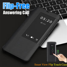 Load image into Gallery viewer, Smart View Sleep Wake UP Function Flip Case For Huawei