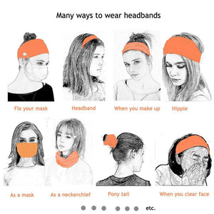 Button Headband Ear Protection for Mask Non-Slip Elastic Hair Bands(BUY 2 GET 15% OFF,BUY 3 GET 30% OFF)