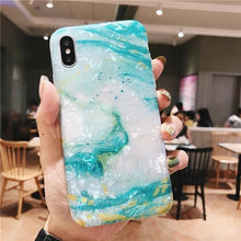 Load image into Gallery viewer, GLOSSY MARBLE CASE FOR IPHONE