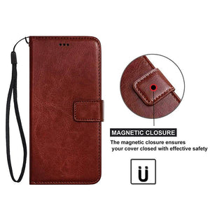 Premium Leather Wallet Flip Case For iPhone