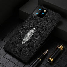 Load image into Gallery viewer, Genuine Stingray Leather Cell Phone Case for iPhone
