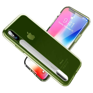 For iPhone X Case,LED Flash Light Calling Notice for Alert Phone Cases Crystal Clear Shell Cover For iPhoneX