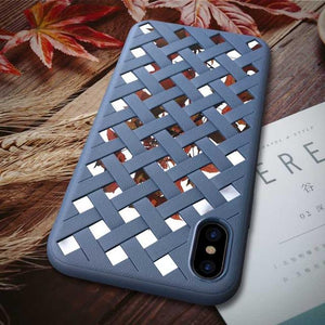 Luxury Weaved Case for iPhone 8 8 Plus Silicone TPU + Reflected PC +Soft Protect Shell for iPhone X 6 6S 7 Plus Anti-knock Cover *40% OFF*