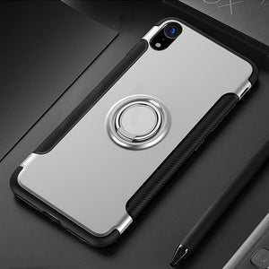 Luxury Shockproof Phone Case For iPhone Car Holder Cases