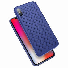 Load image into Gallery viewer, FLOVEME PU Leather Case For iPhone X XS Max XR 8 7 6 6s Soft Woven Grid Back Cases For iPhone 6s 6 7 8 Plus Cover Business Funda