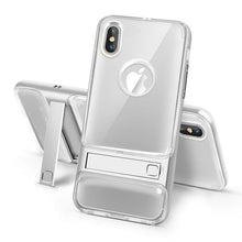Load image into Gallery viewer, 360 Full Protection Shockproof + PC Stand Holder Cover For iPhone