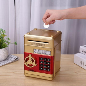 PIGGY BANK DEPOSIT BOX - CASH & COINS SAVINGS