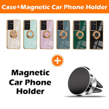 Load image into Gallery viewer, Shiny Plating Built-in Finger Ring Case For Samsung S21 Ultra