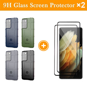 TPU Thick Solid Rough Armor Tactical Protective Cover Case For Samsung S21 Ultra