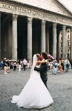 Julia and Alessio on their wedding day