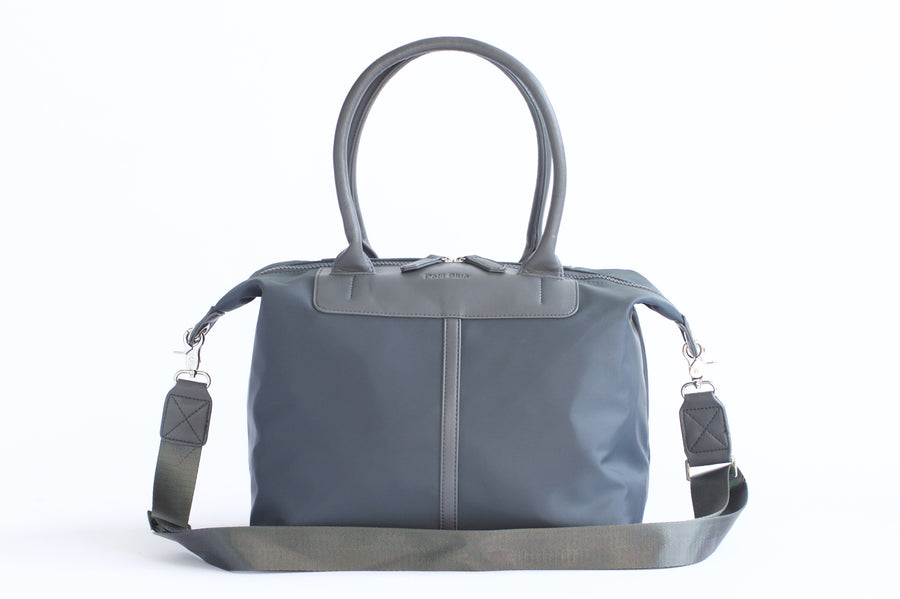 Original Nylon Shoulder Bag - Gray - Petit Blue Handbags