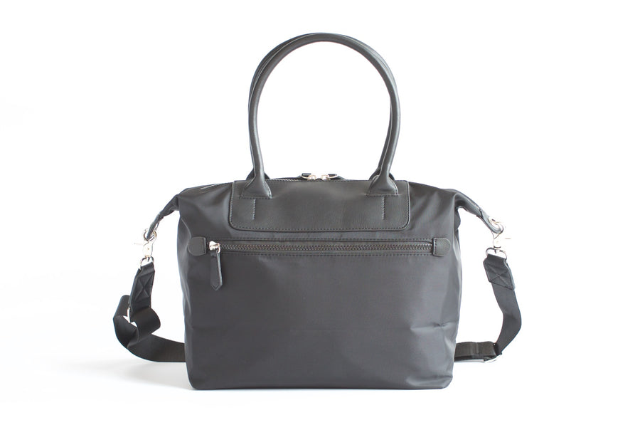 Original Nylon Shoulder Bag - Black - Petit Blue Handbags