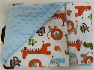 Blue Safari Minky Blanket