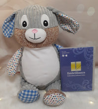 Load image into Gallery viewer, Clovis Brampton the Blue Harlequin Bunny