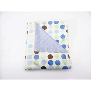 Blue Dots Minky Blanket