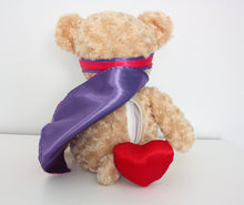 Load image into Gallery viewer, Pink and Purple Snug Courageous Bear
