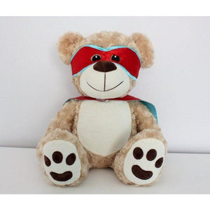 Red and Blue Snug Courageous Bear