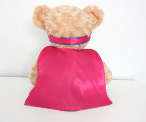 Pink and Purple Snug Courageous Bear