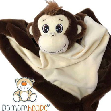 Brown Remembears Monkey Blanket