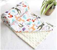 Load image into Gallery viewer, Forest Animals Minky Blanket